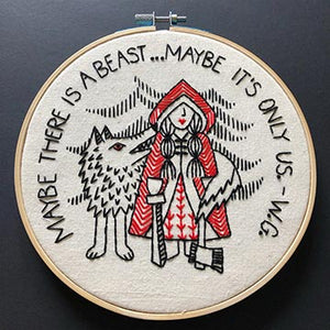 Red Riding Hood Embroidery Kit with a wolf