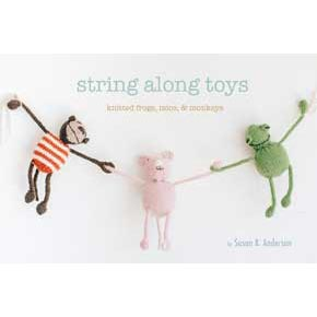 String Along Toys book cover with frog, mouse and monkey