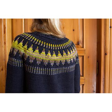 Image of the back of the Throwback Sweater Cardigan