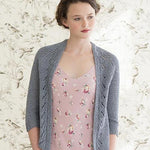 Woman wearing Morning Glory cardigan from Quince