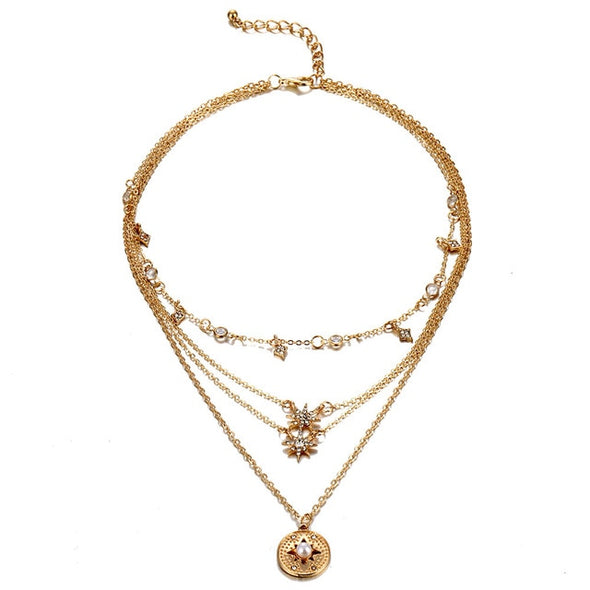 Bohemian Multilayer Choker Necklace