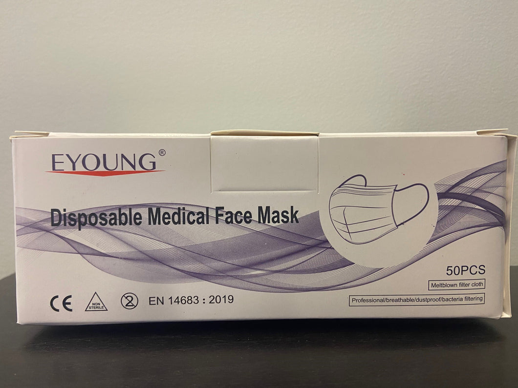 3 Ply Level 1 Medical Face Mask with Ear Loop