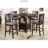 5PC ESPRESSO DINING SET COUNTER HIGH