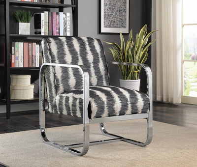 Accent Chair White And Black