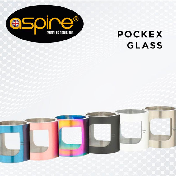 Aspire Pocex Glass Tube Replacement 4 Colours - Vape Citi