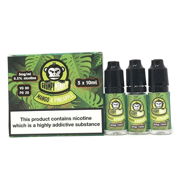 GRUMPY MONKEY - Mango & Pineapple 3x10ml E-Liquid