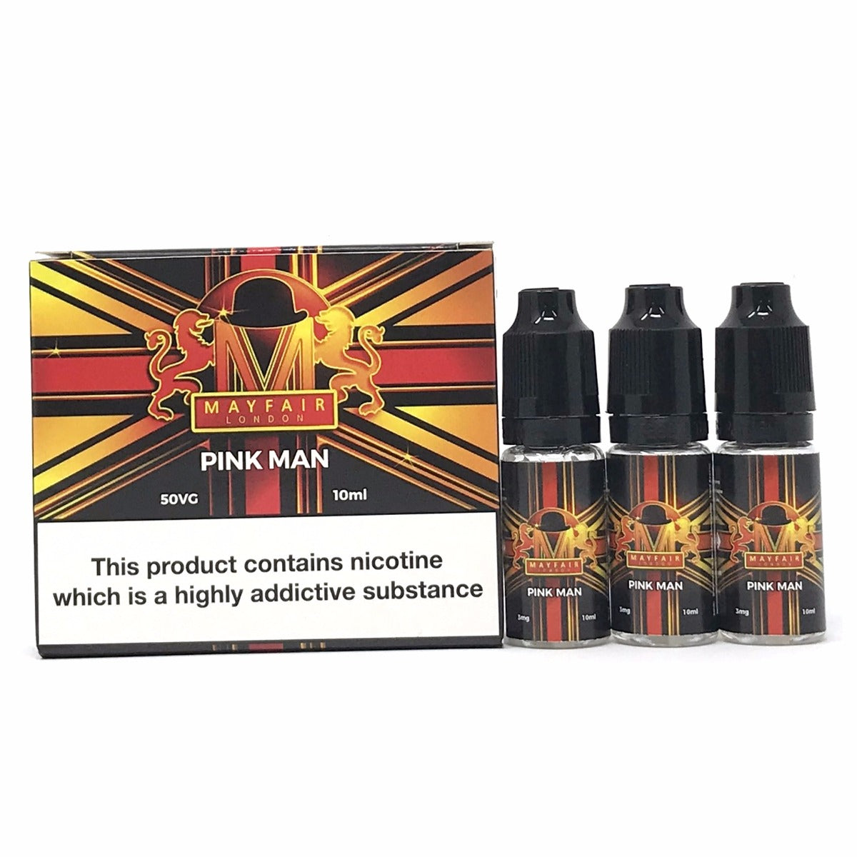 MAYFAIR LONDON - Pink Man 3x10ml E-Liquid-Vape Citi