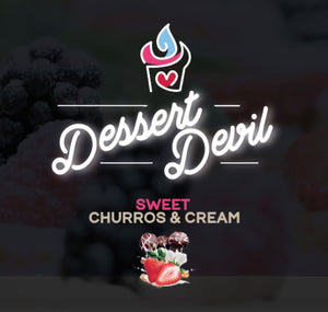 Dessert Devil-Sweet Churros & Cream 80ml E-Liquid-Vape Citi