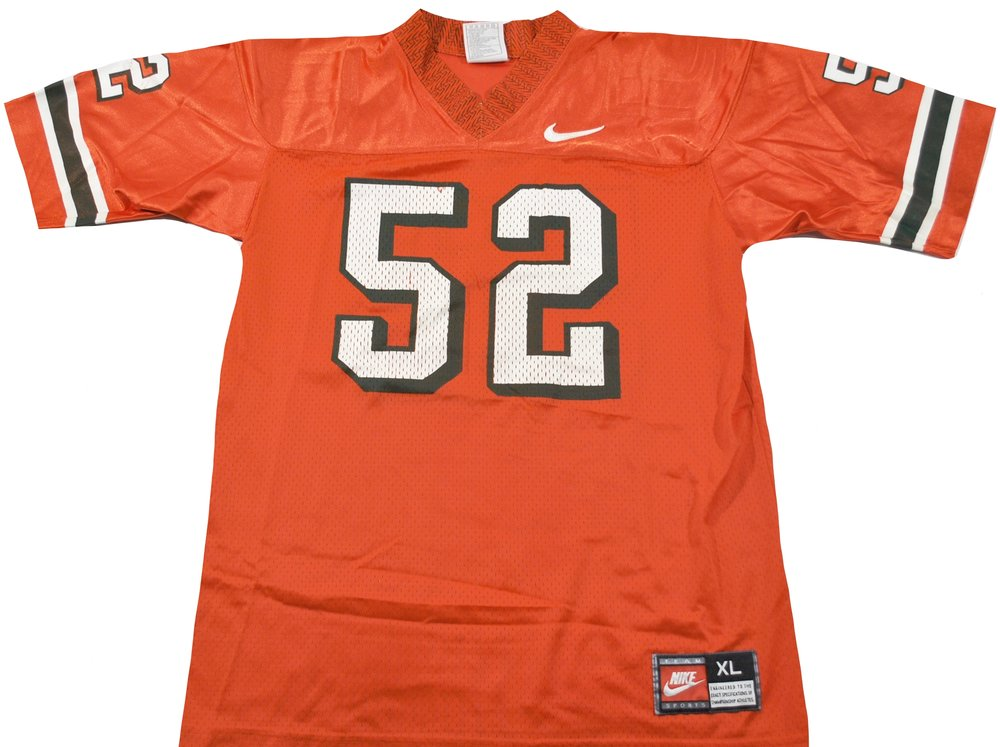 Vintage Miami Hurricanes Nike Ray Lewis #52 Jersey Size Youth X-Large