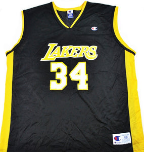 Vintage Champion Brand Los Angeles Lakers Shaquille O Neal Jersey Size  X-Large 76693f6b0