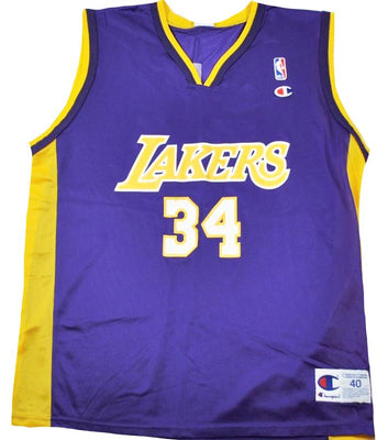 4db41fc88e0 Vintage Champion Brand Los Angeles Lakers Shaquille O'Neal Jersey Size Large
