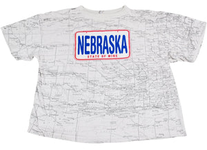 Vintage Nebraska 90s State Shirt Size Large(wide)