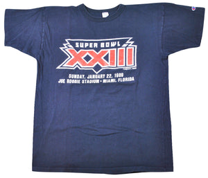 Vintage Super Bowl XXIII 1989 Champion Brand Shirt Size X-Large