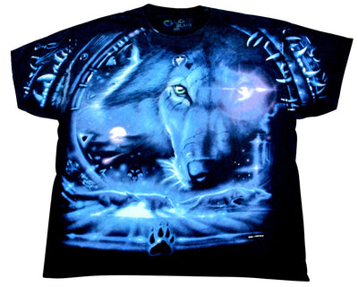 Vintage Lion 2001 Liquid Blue Shirt Size X-Large