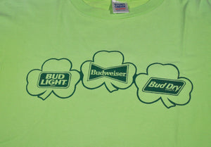 Vintage Budweiser Bud Light Bud Dry Shirt Size 2X-Large(Wide)