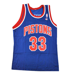 Vintage Champion Brand Detroit Pistons Grant Hill Jersey Size Medium