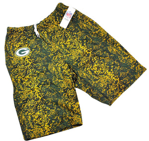 Vintage Green Bay Packers Zubaz Shorts Size Medium
