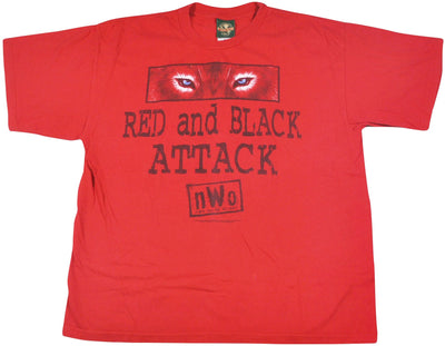 Vintage NWO 1996 Red and Black Attack Wrestling Shirt Size X-Large