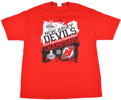 Vintage New Jersey Devils 2012 Eastern Conference Champions Shirt Size X-Large