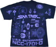 Vintage Star Trek 1994 All Over Print Shirt Size Large
