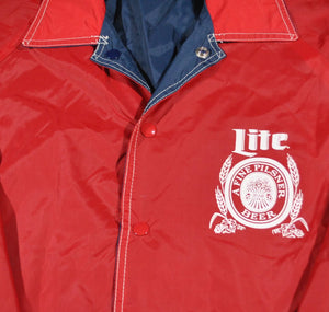 Vintage Lite Beer Reversible Jacket Size Small