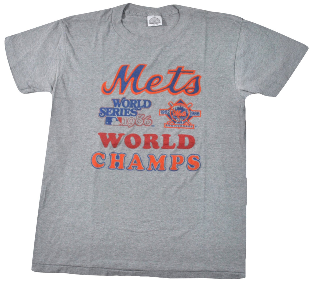 Vintage New York Mets 1986 World Champs Shirt Size Medium