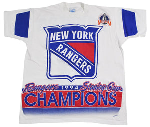 Vintage New York Rangers 1994 Stanley Cup Salem Sportswear Shirt Size Large
