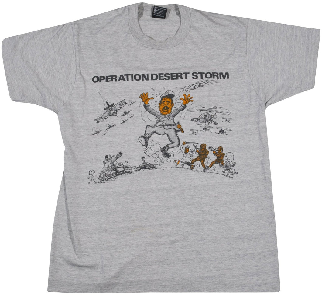 Vintage Desert Storm War In The Gulf Shirt Size Large