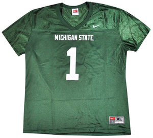 Vintage Michigan State Spartans Nike Jersey Size Women's X-Large