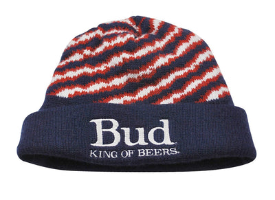 Vintage Bud King of Beers Beanie Size One Size Fits All(Large)