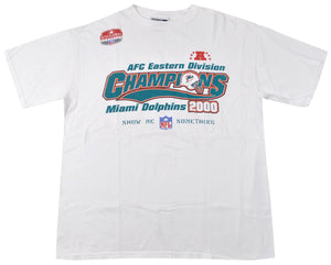 Vintage Miami Dolphins 2000 AFC East Champions Shirt Size Large
