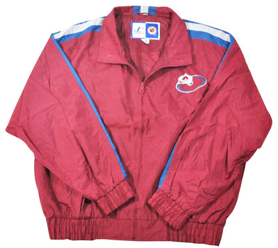Vintage Colorado Avalanche Logo Athletics Jacket Size X-Large.