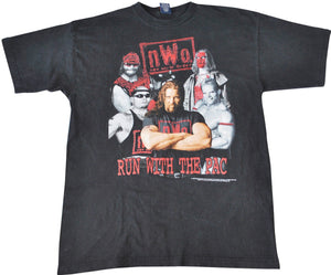 Vintage NWO 1998 Run With The Pac Wrestling Shirt Size X-Large