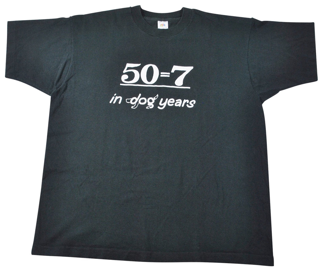 Vintage 50=7 in Dog Years Shirt Size X-Large