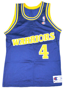 76506da7fff4 Vintage Champion Brand Golden State Warriors Chris Webber Jersey Size Small