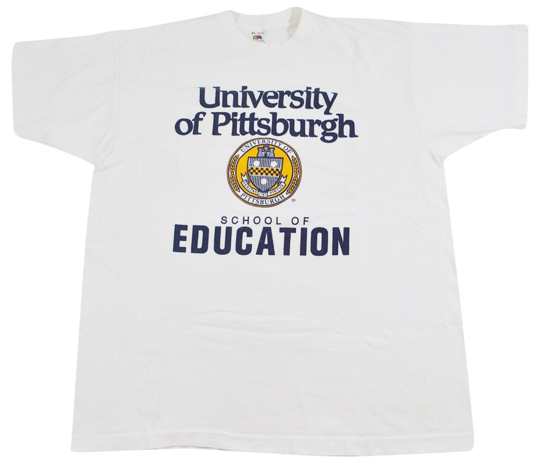 Vintage Pittsburgh Panthers 90s School of Education Shirt Size X-Large