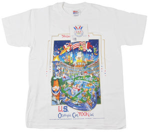 Vintage 1996 Atlanta Olympics Looney Tunes Shirt Size Youth Large