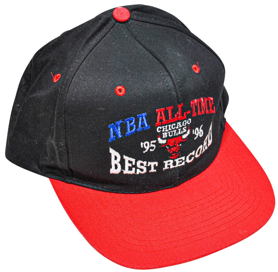 Vintage Chicago Bulls 1996 NBA All-Time Best Record Snapback