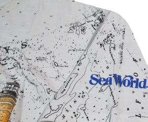 Vintage Sea World All Over Print Ocean Shirt Size X-Large