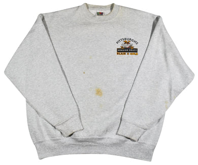 Vintage Miller Genuine Draft Pittsburgh Black & Gold  Sweatshirt Size X-Large