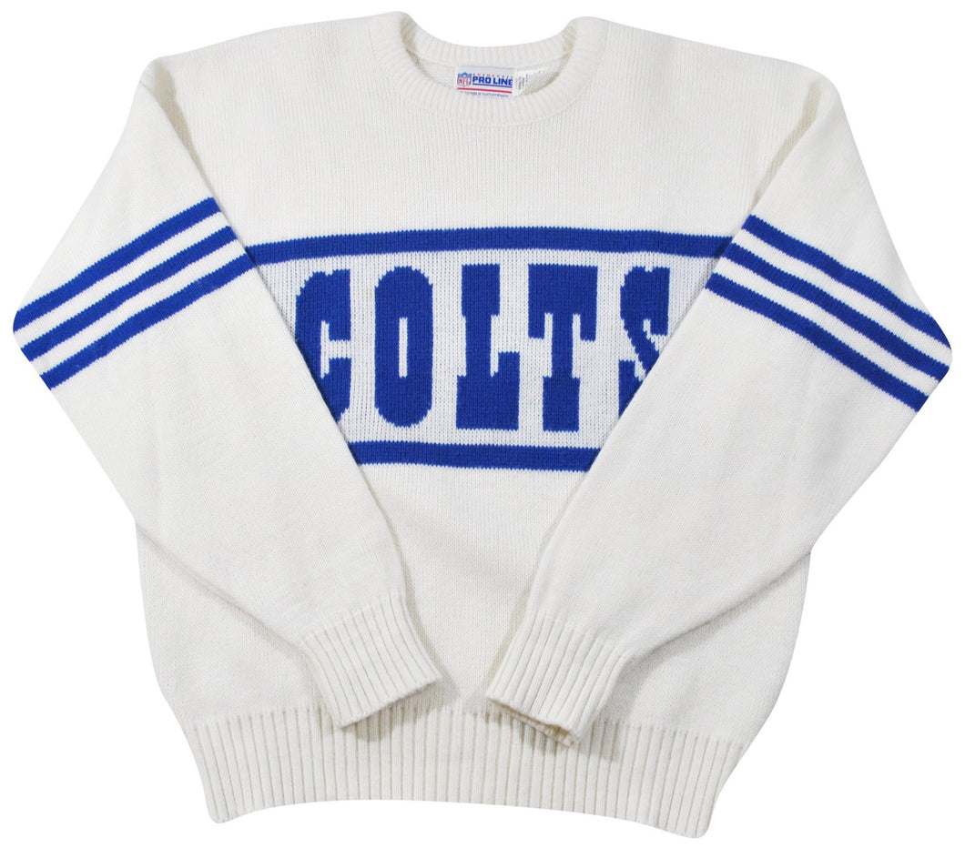Vintage Indianapolis Colts Wool Made in USA Sweater Size Large