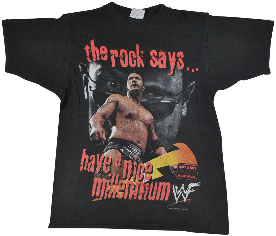 Vintage The Rock Wrestling Shirt Size Small