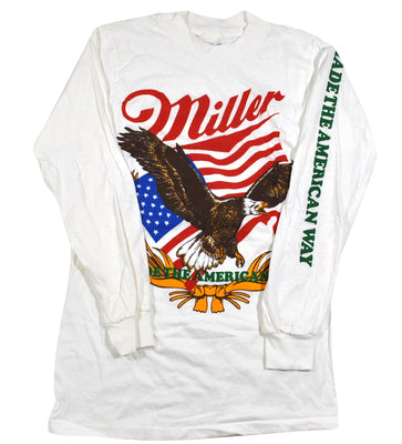 Vintage Miller Made The American Way Shirt Size Small(tall)