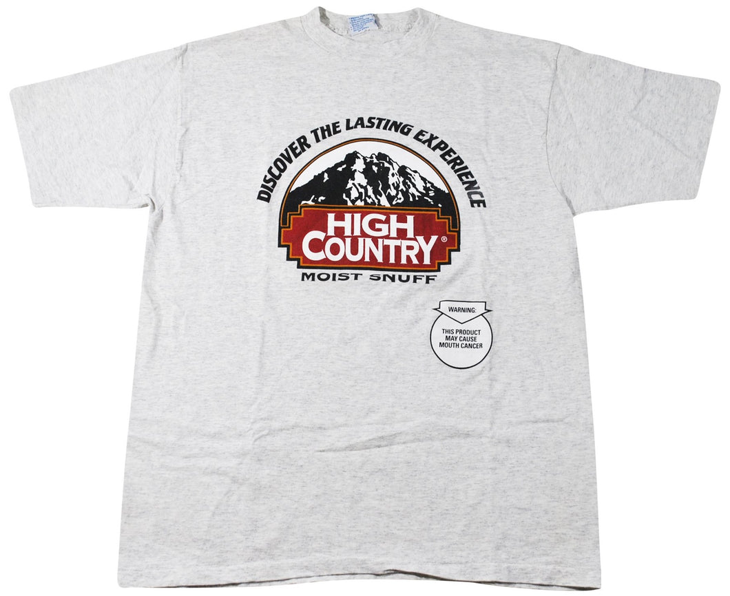Vintage High Country Moist Snuff Shirt Size X-Large