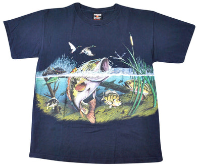 Vintage Bass Fishing Shirt Size Large