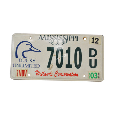 Vintage Ducks Unlimited Mississippi License Plate