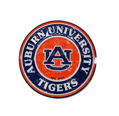 Vintage Auburn Tigers Thin Metal Sign