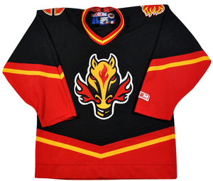 Vintage Calgary Flames Jersey Size Youth Large
