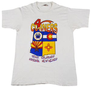 Vintage 4 Corners Utah Colorado Arizona New Mexico State Shirt Size Medium(tall)