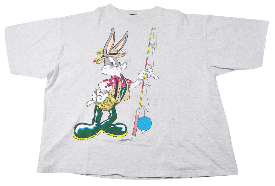 Vintage Looney Tunes 1994 Bugs Bunny & Taz Fishing Shirt Size X-Large(wide)